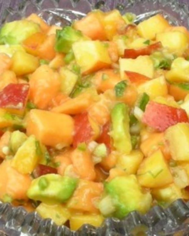 papaya and peach salsa