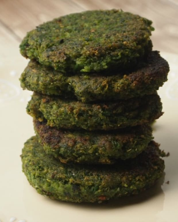 fava spinach cakes