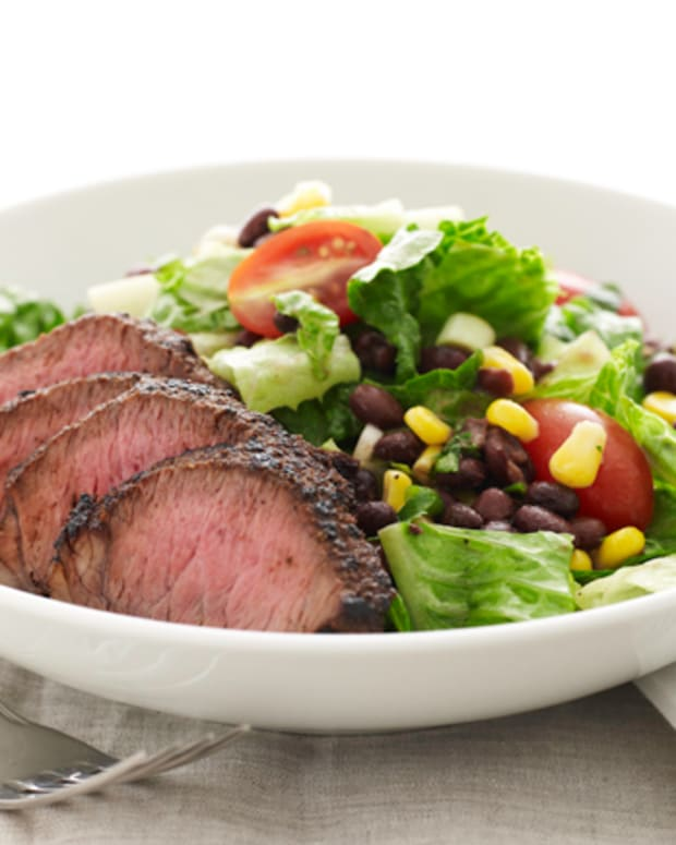 Southwestern Steak Salad with Cilantro Lime Dressing