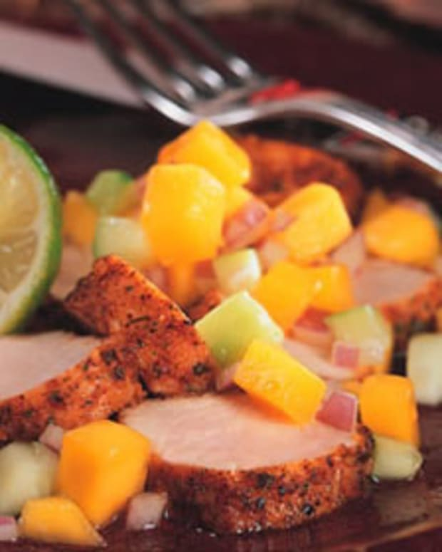 Chili Roasted Turkey with Cucumber-Mango Salsa