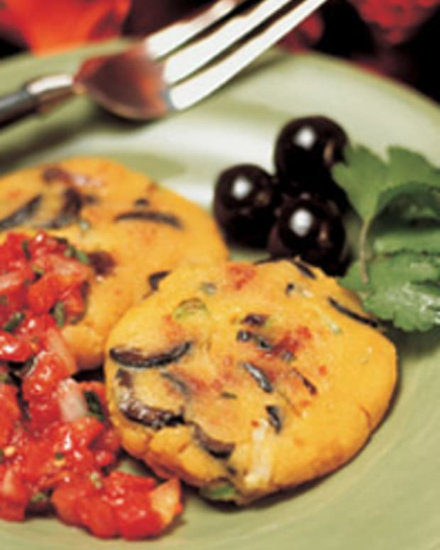 Cheddar Olive Arepas