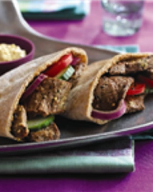 Mediterranean Beef Pitas