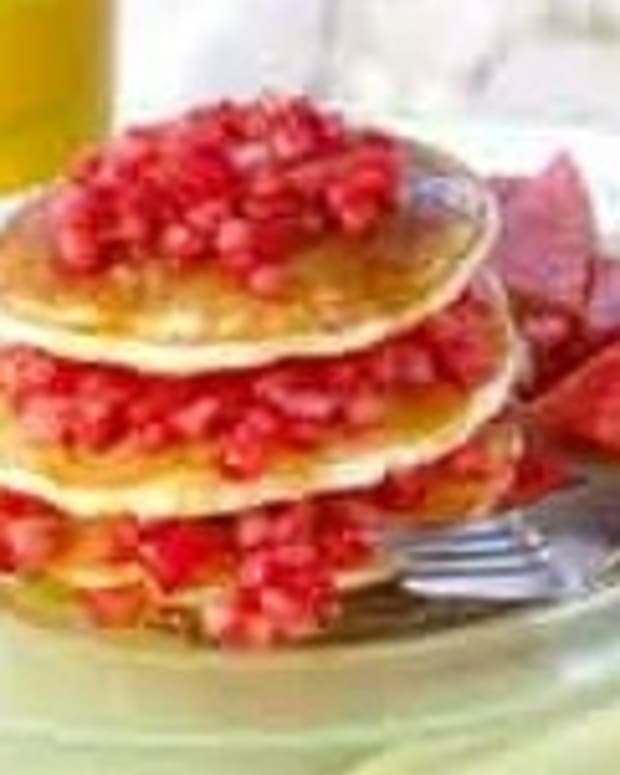 Watermelon Stacked Breakfast Pancakes
