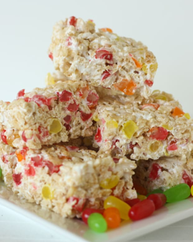 Mike and Ike Rice Krispy Treats
