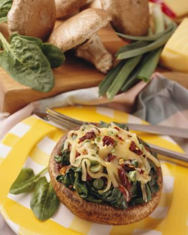 spinach and Fontina-Stuffed Portabellas