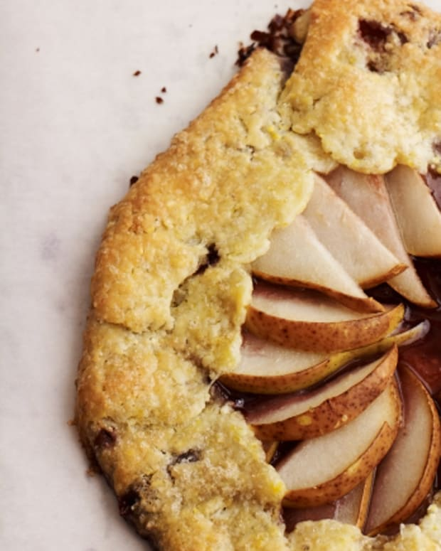 Concord Grape and Pear Galette