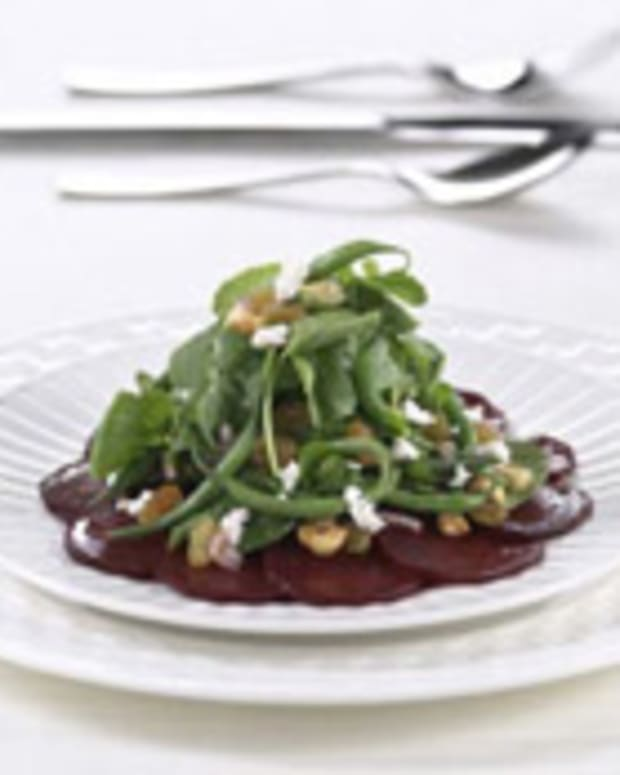 Haricots Verts, Beet and Raisin Salad