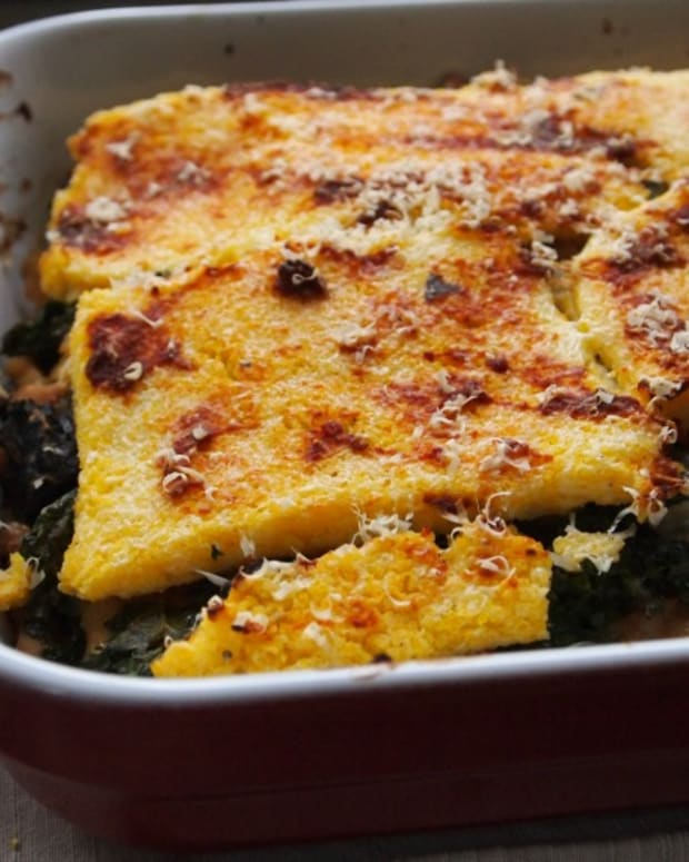 polenta layered casserole