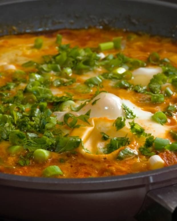 shakshuka with haloumi