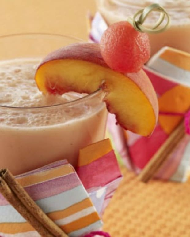 Watermelon, Pineapple and Peach Smoothie