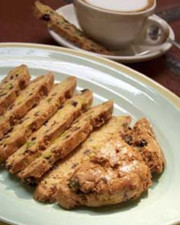 Mary Kay's Pistachio and Currant Biscotti