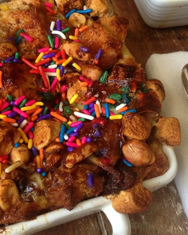 over stuffed bread pudding