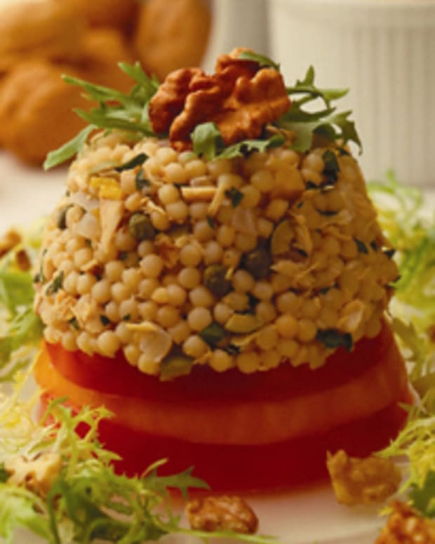 Walnut Couscous & (low sodium)Tuna Tower