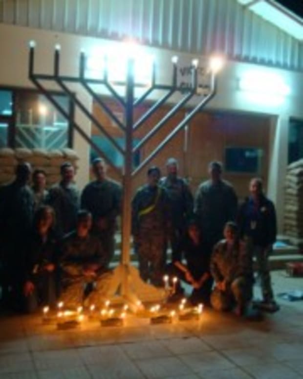 Grateful Chanukah Wishes from Our Soldiers in Iraq