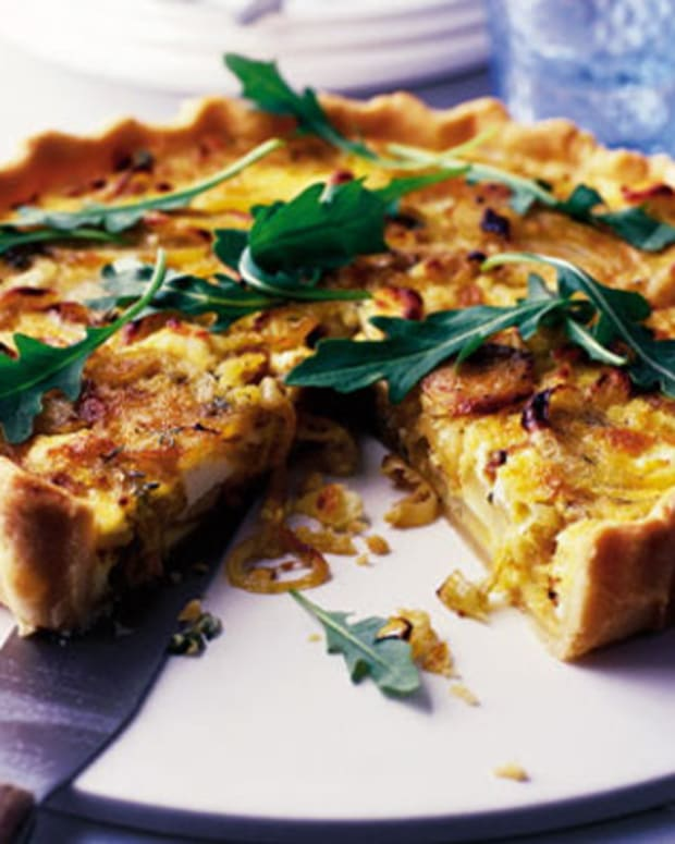 Potato Onion Cheese Tart