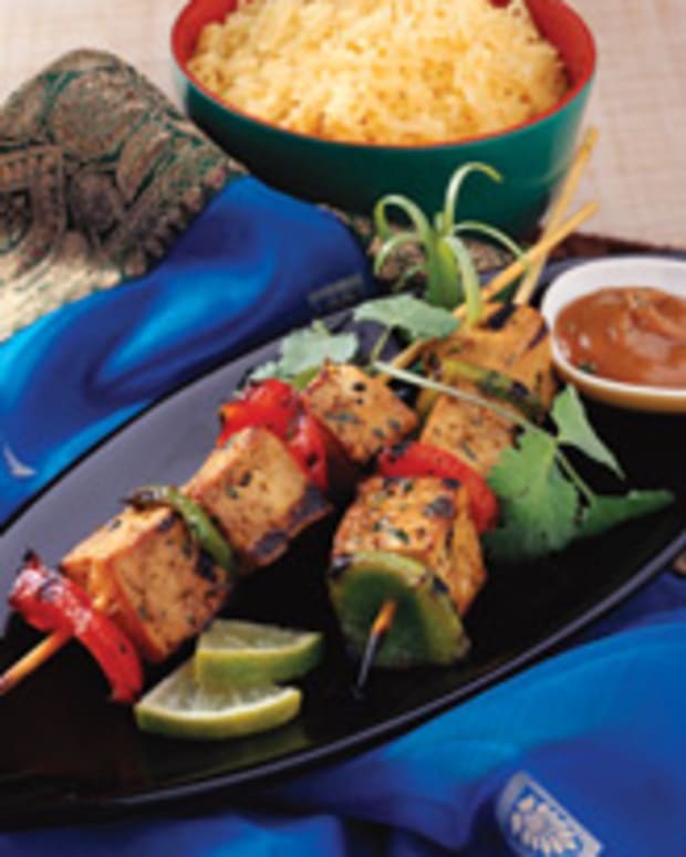 Tofu Satay with Soy Butter