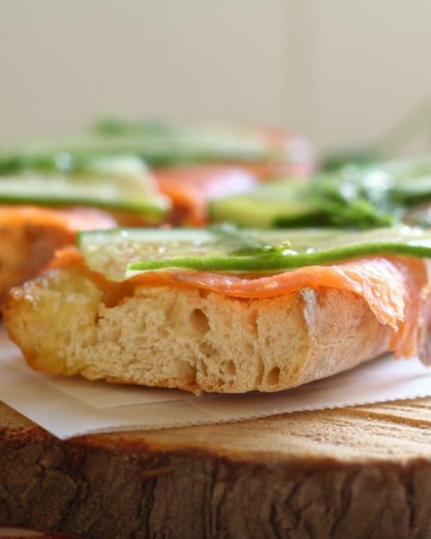 cucumber and salmon sandwich