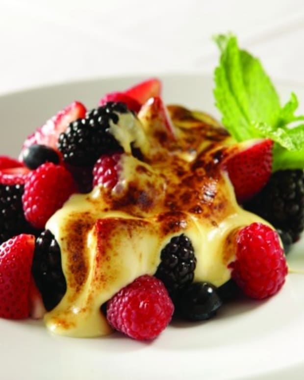 Jeff Nathan's Berries with Honey Ginger Zabaglione