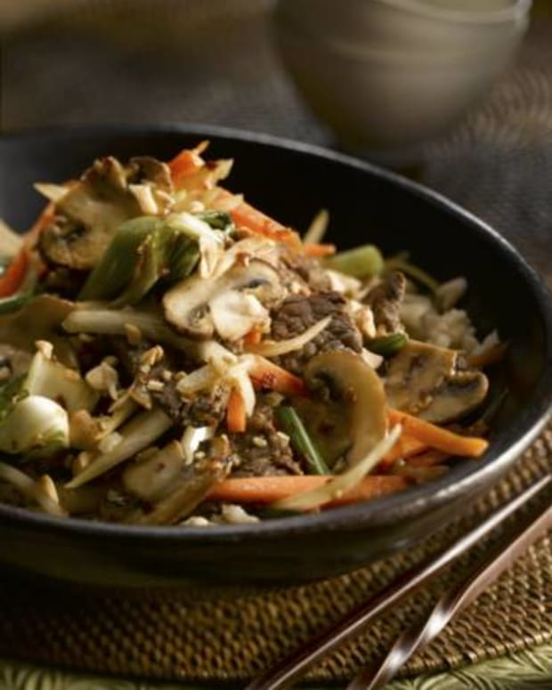 Ginger Beef and Mushroom Stir-Fry