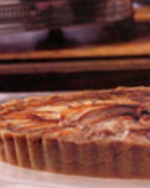 Bosc Pear and Roasted Hazelnut Tart