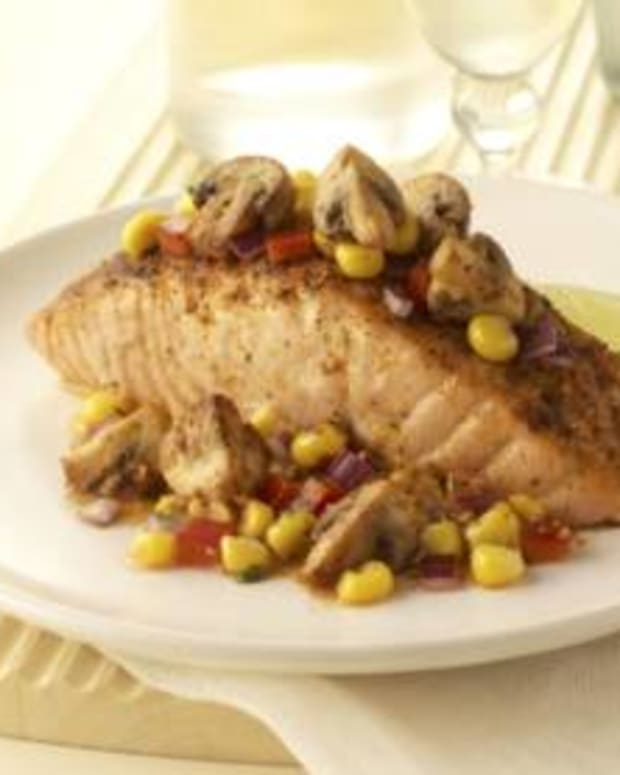 Baja Salmon with Mushrooms