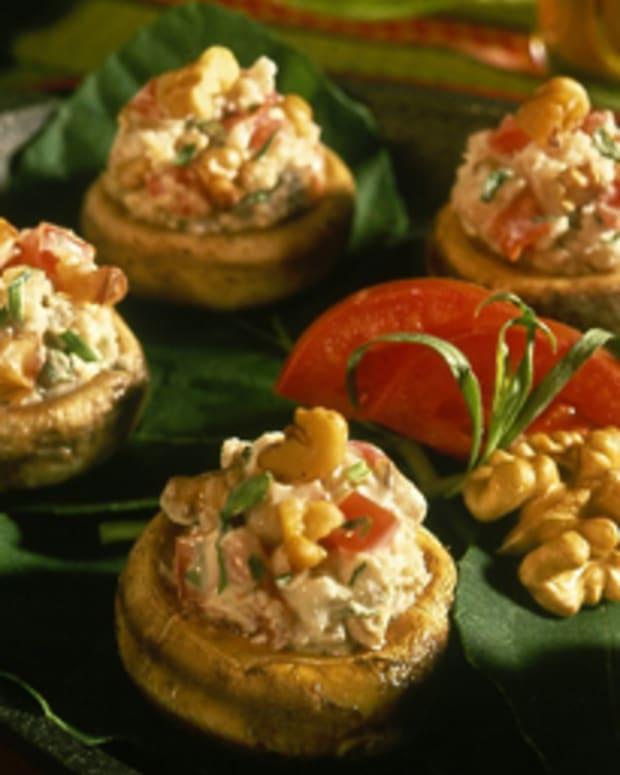 Nutty Stuffed Mushroom Caps