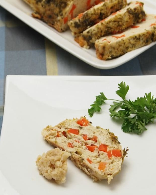 horseradish crusted gefilte fish