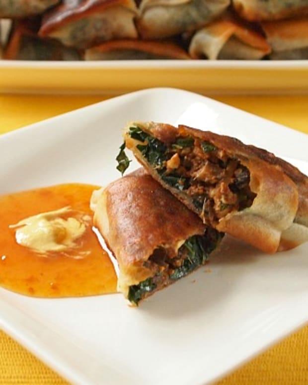 tofu-kale-crispy-spring-roll