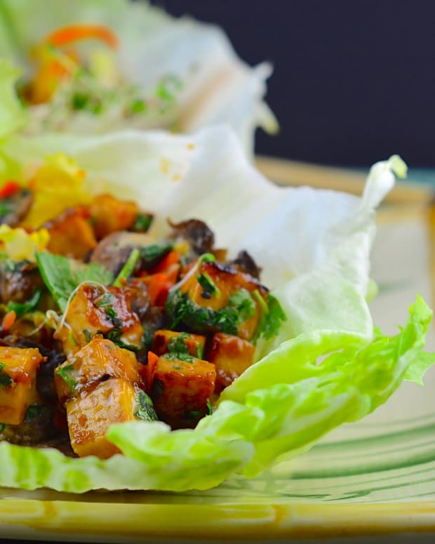 vegan thai lettuce cups