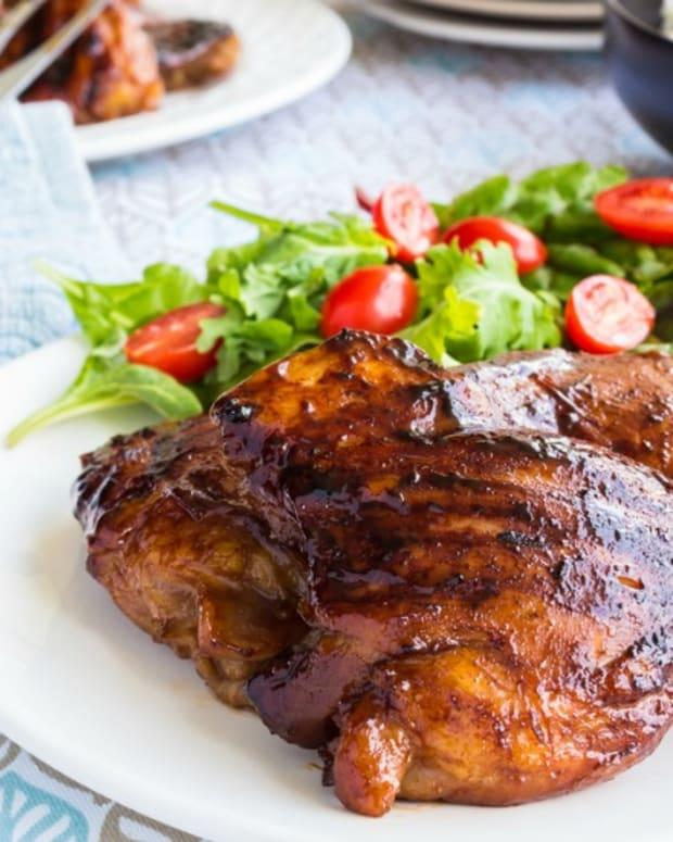 grilled pargiyot chicken thighs