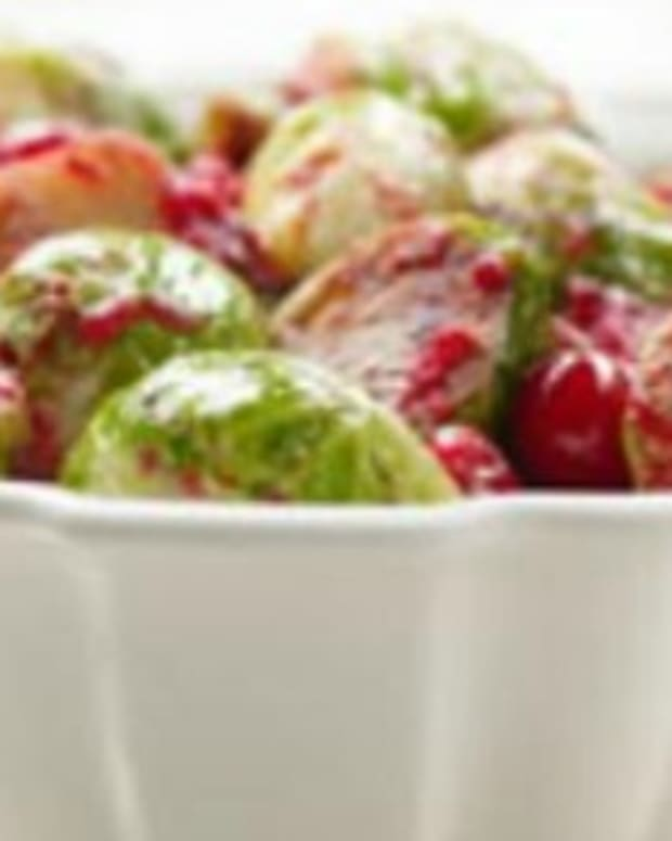 Roasted Brussels Sprouts with Cranberry Brown Butter