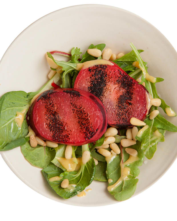 grilled pluot salad