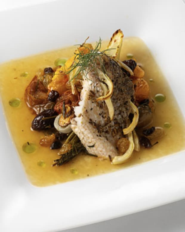 Roasted Wild Striped Sea Bass