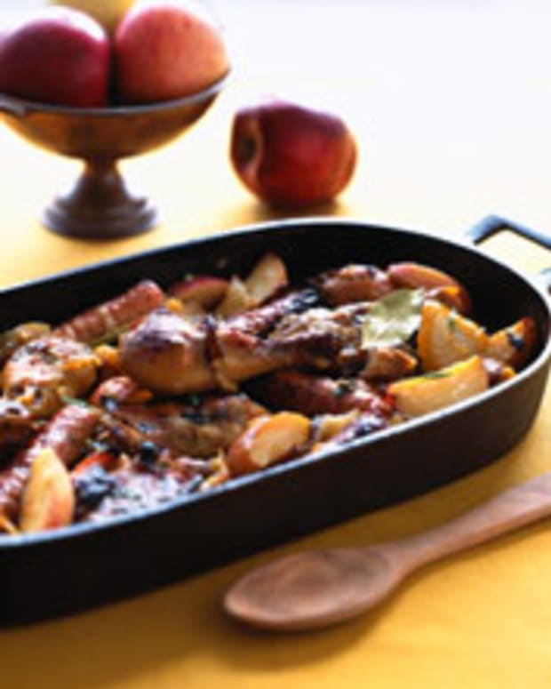 Cider-Baked Chicken and Sausage