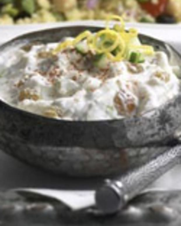 Cucumber-Raisin Raita