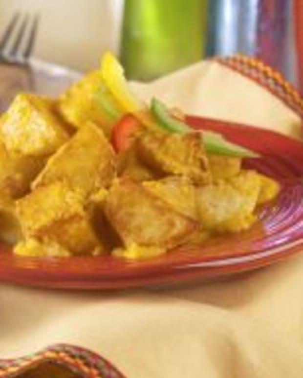 Spicy Potatoes/Paratas Bravas