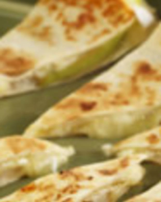 Pear and Brie Quesadilla with Fresh Pear Chutney