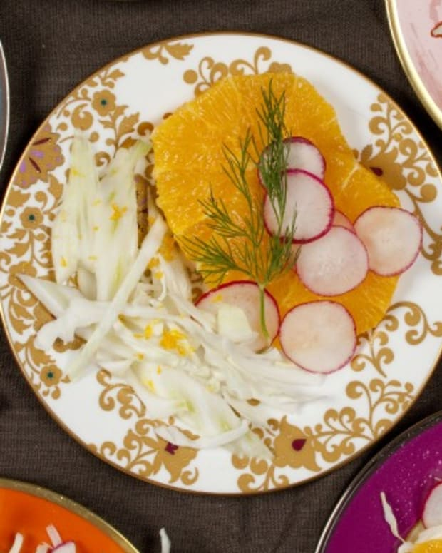 Cabbage Fennel Radish and Orange Salad
