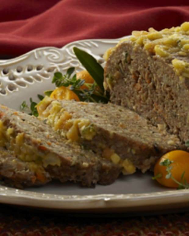 Turkey Walnut Mushroom Meatloaf