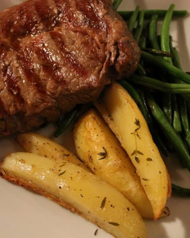 steak with red wine sauce from tuscany
