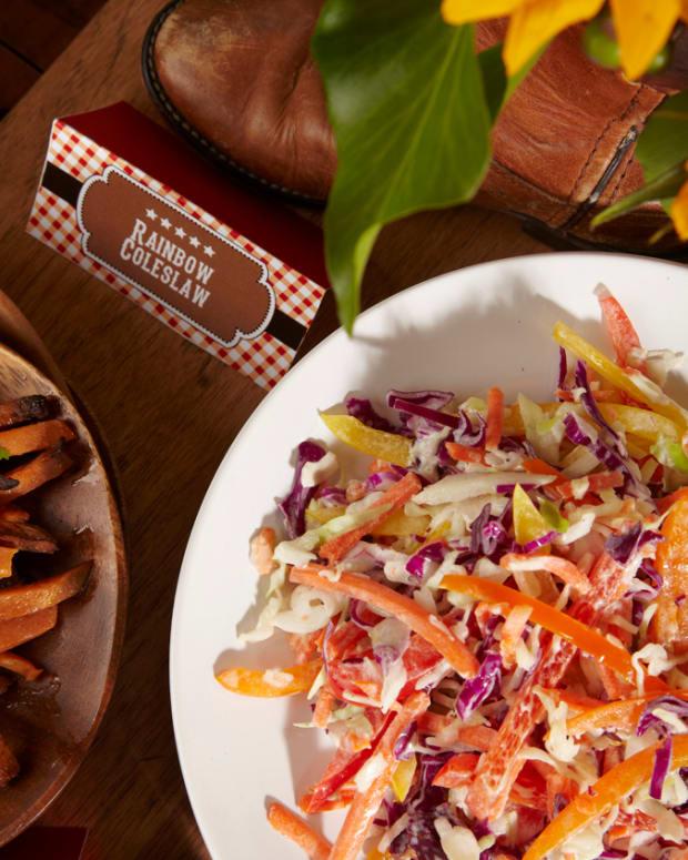 creamy rainbow coleslaw