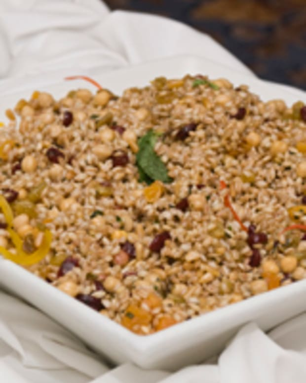 Farro Dried Fruit Garbanzo Salad