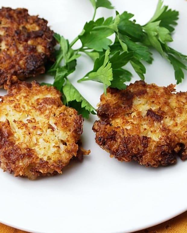 Cauliflower-SAlami-latkes
