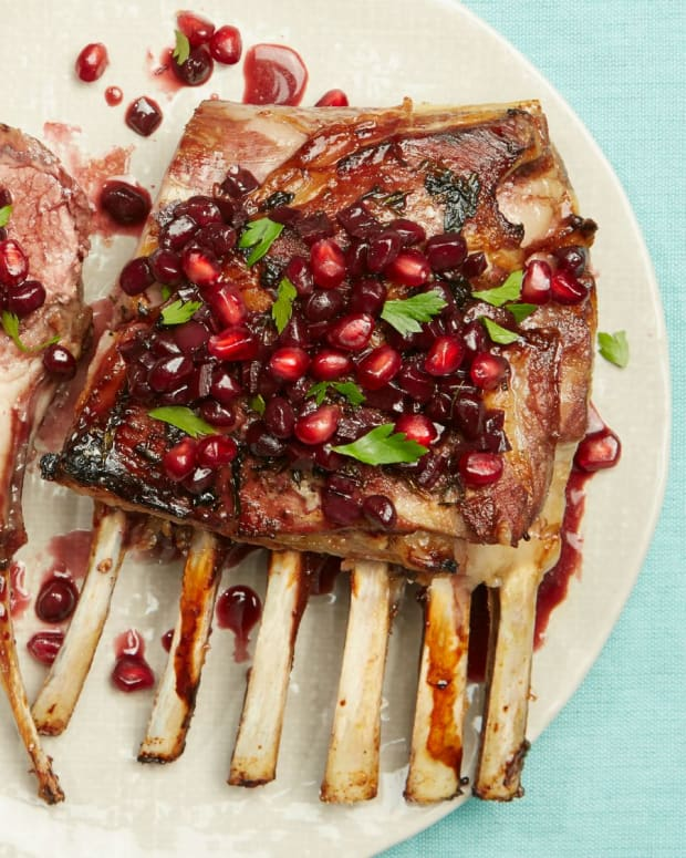 Slow Roasted Lamb Chops with Pomegranate
