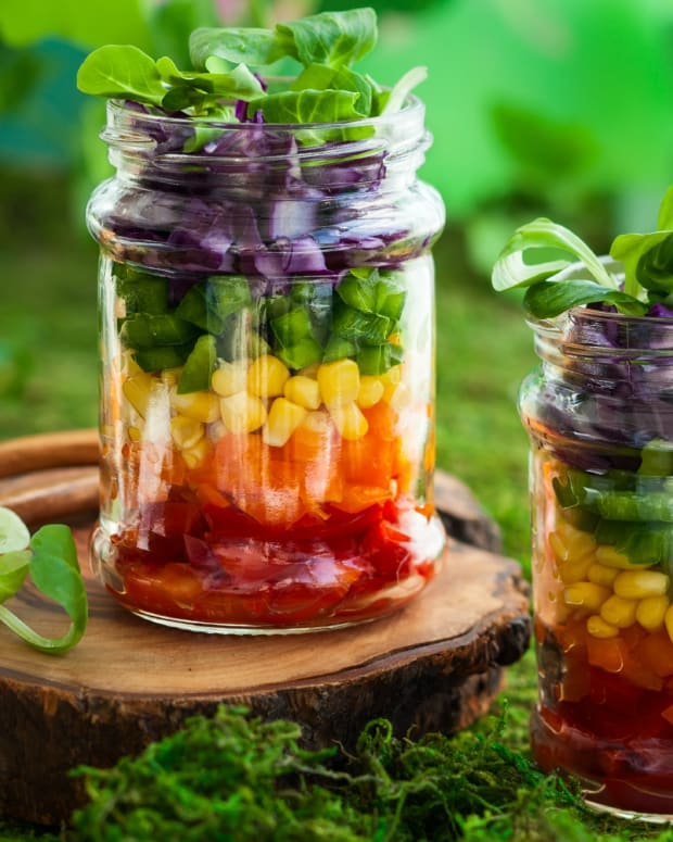 Rainbow Layered Vegetable Salad