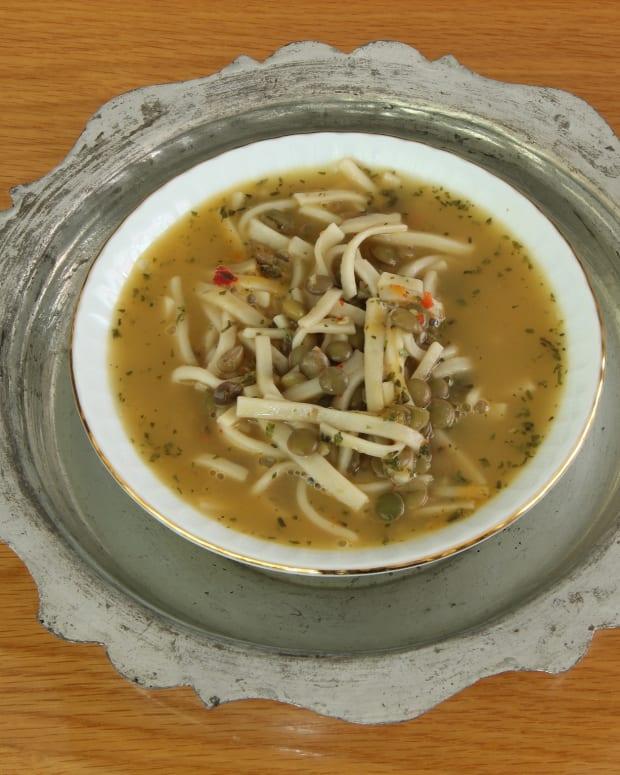 Lentil Noodle Soup