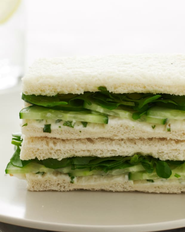 non dairy cucumber tea sandwiches