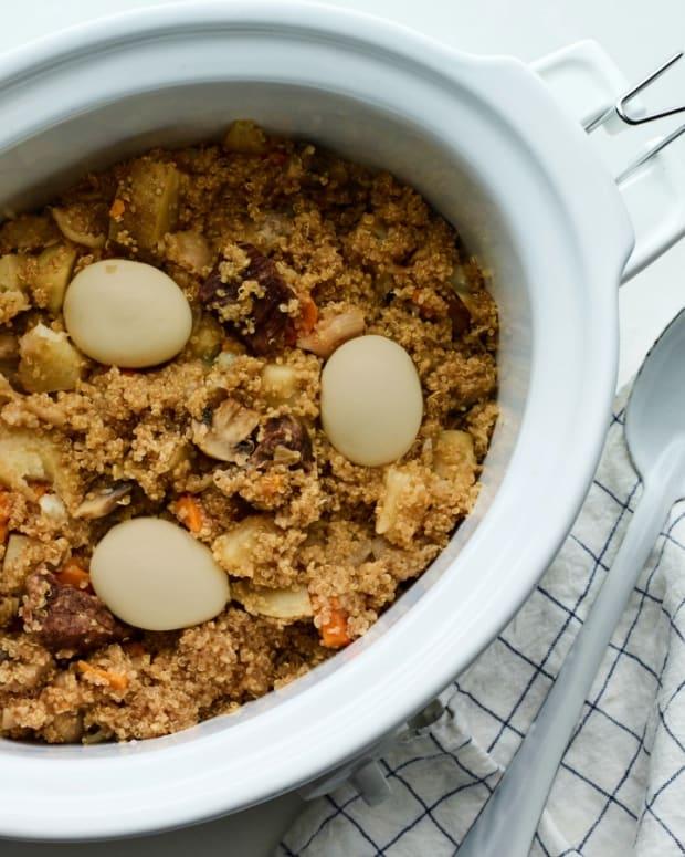 Passover gluten free quinoa cholent