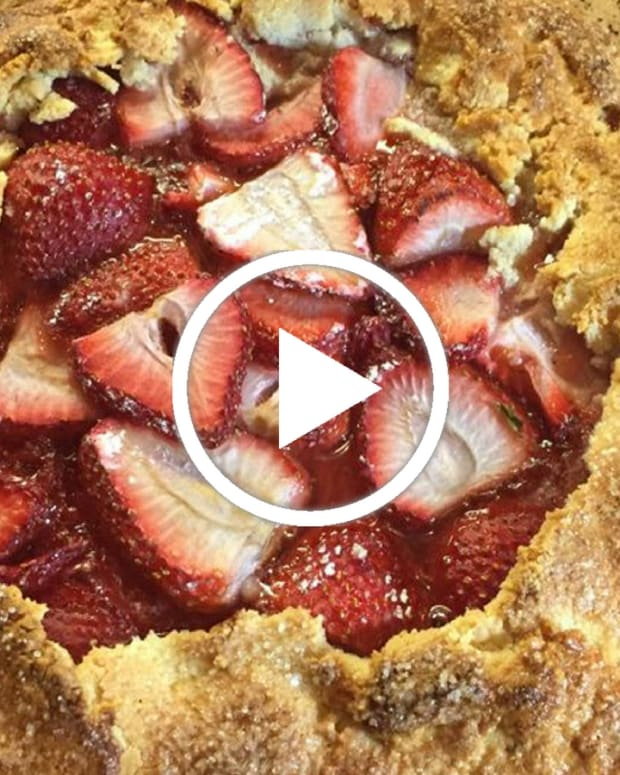 strawberry galette colavita olive oil