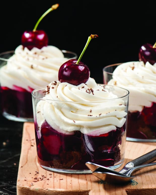 Black Forest Cheesecake Shooters